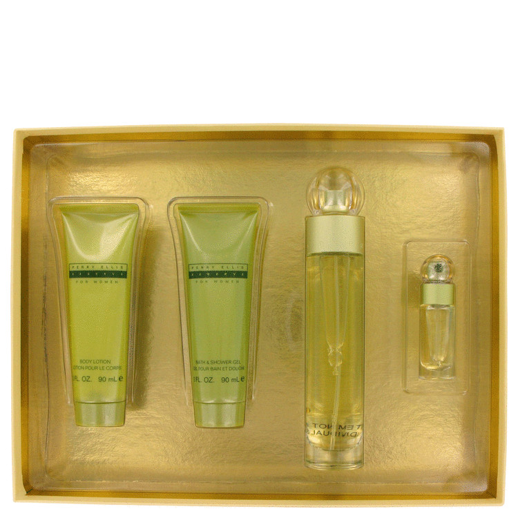 Perry Ellis Reserve for Women, Gift Set (3.4 oz EDP Spray + 3 oz Shower Gel + 3 oz Body Lotion + .25 oz Mini EDP Spray)