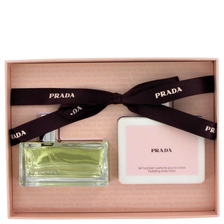 Prada Gift Set -- Gift Set - 1.7 oz Eau De Parfum Spray + 3.4 oz Body Lotion for Women