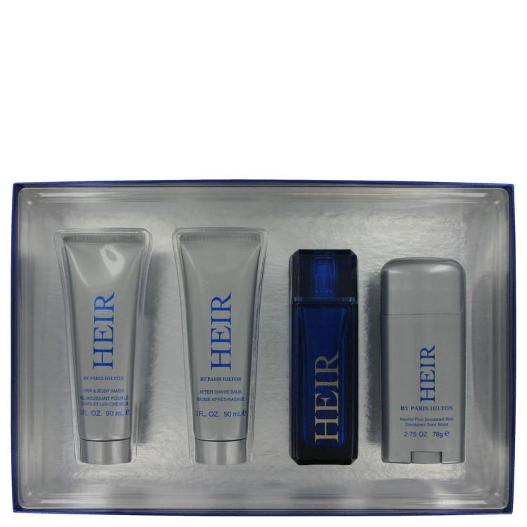 Paris Hilton Heir Gift Set -- Gift Set - 3.4 oz Eau De Toilette Spray + 3 oz Hair & Body Wash + 3 oz After Shave Balm +2.75 oz Deodorant Stick for Men