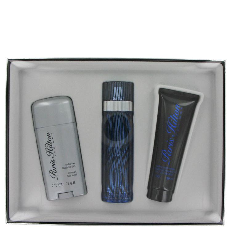 Paris Hilton by Paris Hilton for Men Gift Set -- 3.4 oz Eau De Toilette Spray + 2.75 Deodorant Stick (Alcohol Free) + 3 oz Hair