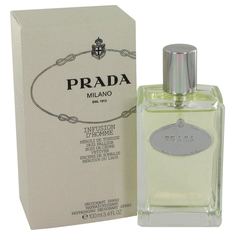 Infusion D'homme Deodorant by Prada 3.4 oz Deodorant Spray for Men