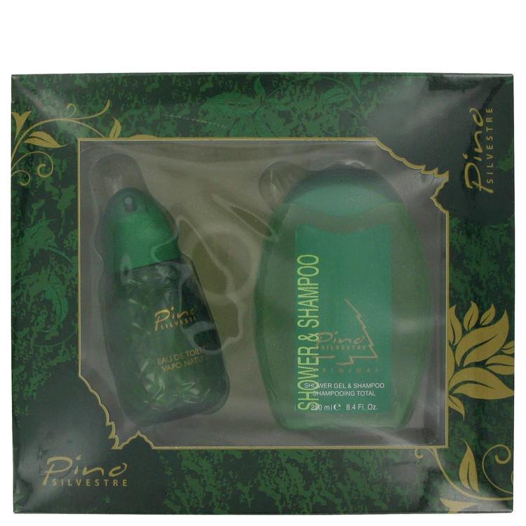 Pino Silvestre for Men, Gift Set (4.4 oz EDT Spray + 8.4 oz Shower / Shampoo Gel in Display Box)