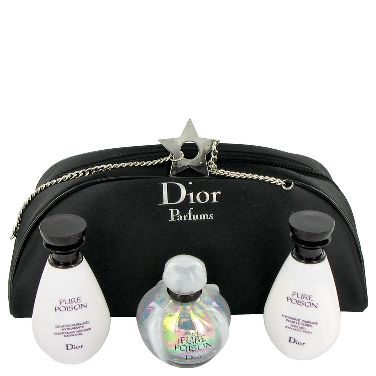 Pure Poison Gift Set -- Gift Set - 1.7 oz Eau De Parfum Spray + 1.7 oz Body Moisturizer + 1.7 oz Shower Gel for Women