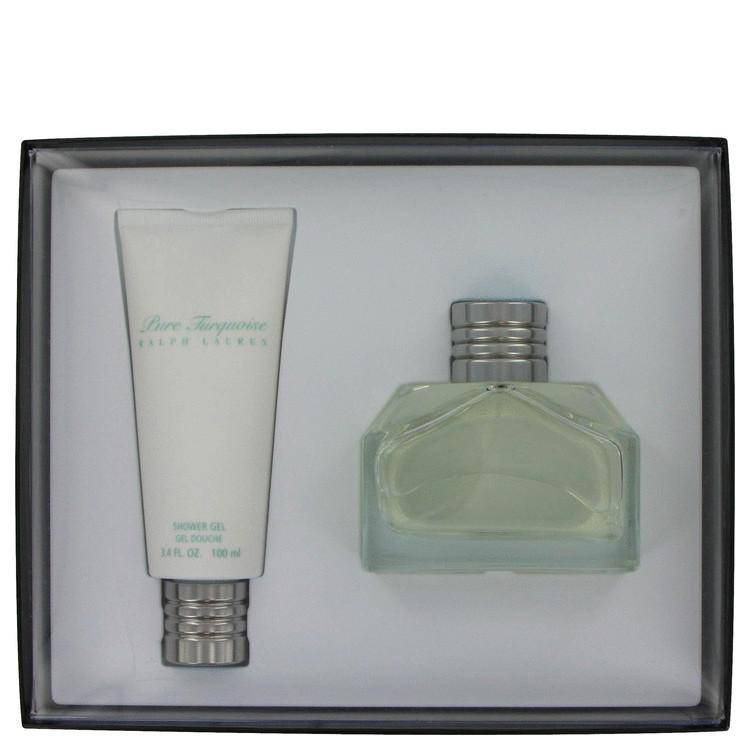 Pure Turquoise Gift Set -- Gift Set - 4.2 oz Eau De Parfum Spray + 3.4 oz Shower Gel for Women