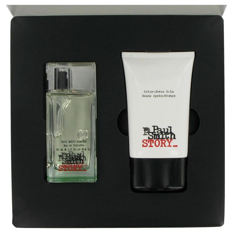 Paul Smith Story Gift Set -- Gift Set - 1.7 oz Eau De Toilette Spray + 3.4 oz After Shave Balm for Men