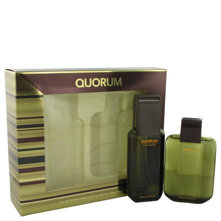 QUORUM by Antonio Puig for Men Gift Set -- 3.3 oz Eau De Toilette Spray + 3.3 oz After Shave