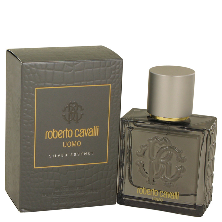 Roberto Cavalli Uomo Silver Essence Cologne 60 ml EDT Spay for Men