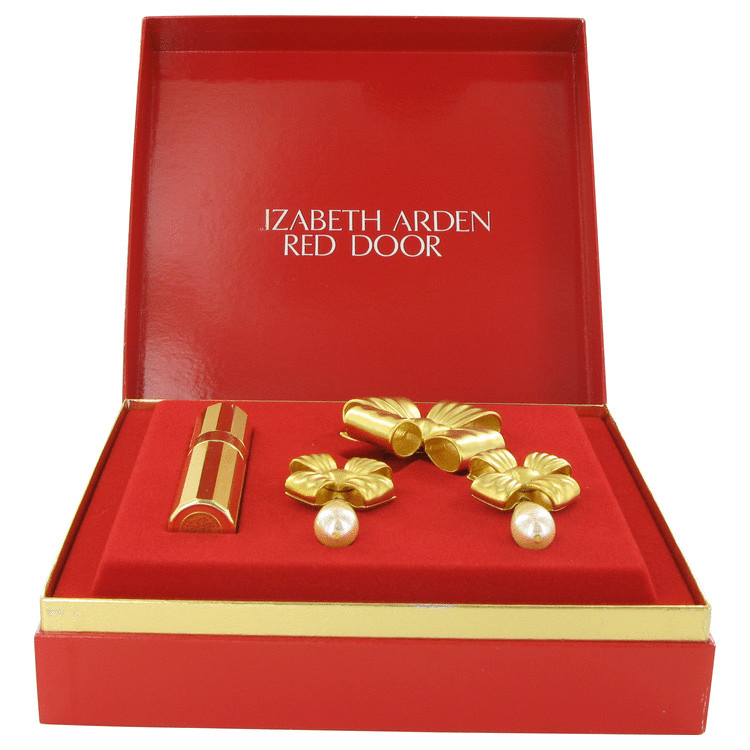 Red Door Gift Set 7 ml Gold Travel Mini EDP Spray + Free Earrings and Free Brooch in Gift Box for Women