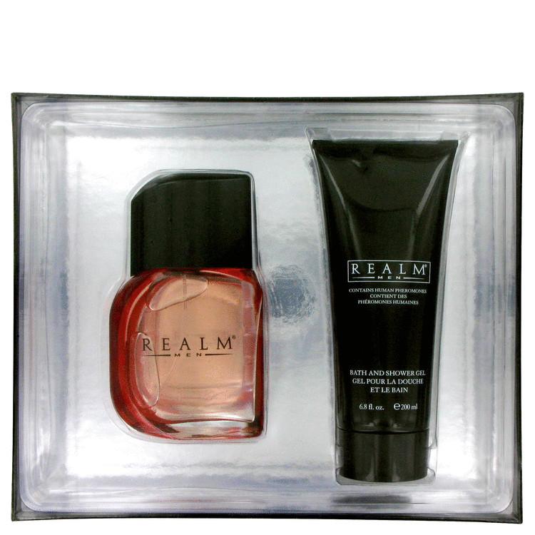 Realm Gift Set -- Gift Set - 3.4 oz Cologne Spray + 6.8 oz Shower Gel for Men