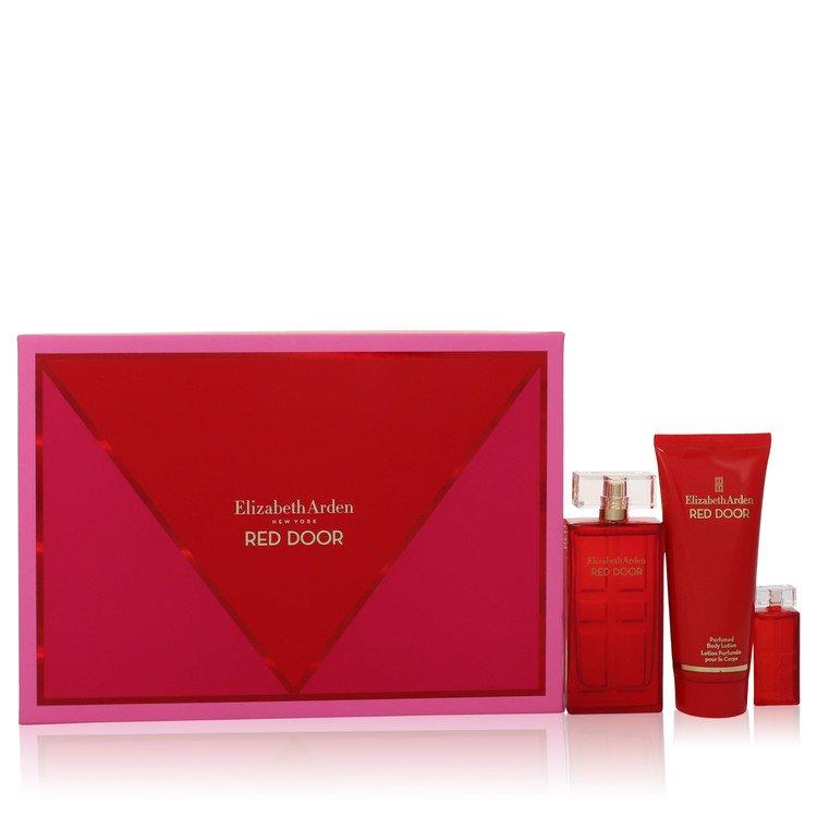 Red Door Gift Set -- Gift Set - 1.7 oz Eau De Toilette Spray + .17 oz Mini Parfum + 3.3 oz Body Lotion for Women