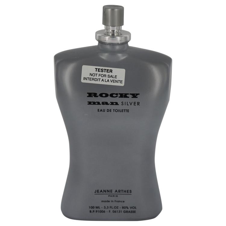 Rocky Man Silver by Jeanne Arthes for Men Eau De Toilette Spray (Tester) 3.3 oz