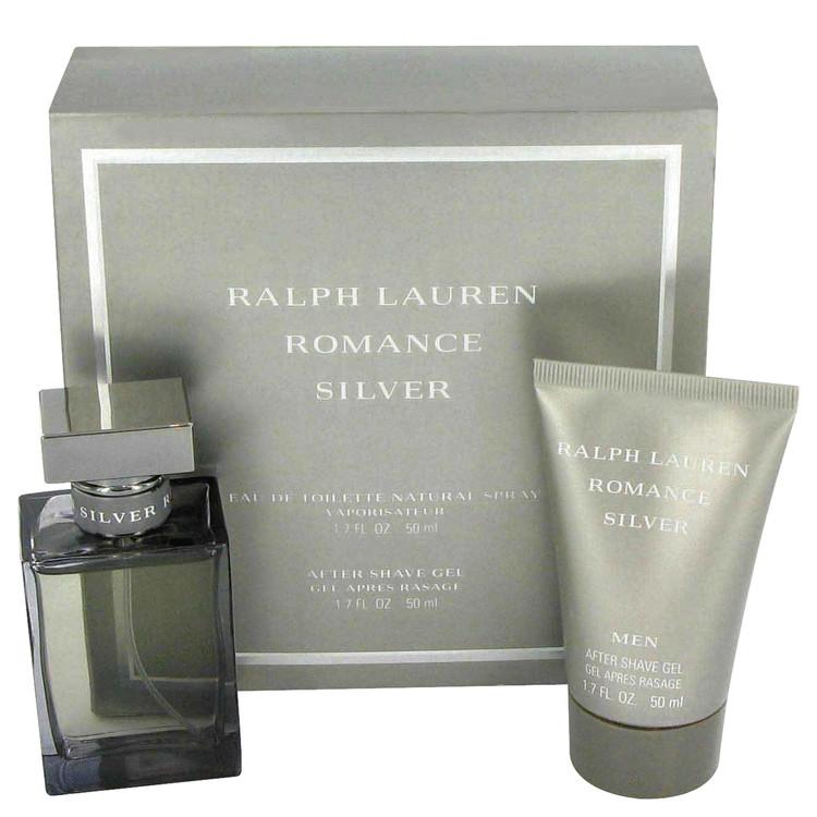 Romance Silver Gift Set -- Gift Set - 1.7 oz Eau De Toilette Spray + 1.7 oz Shower Gel for Men
