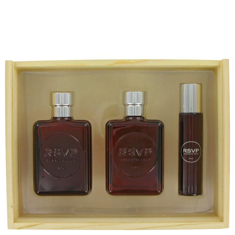 Kenneth Cole Rsvp Gift Set -- Gift Set - 3.4 oz Eau De Toilette Spray + 3.4 oz After Shave + 1 oz Eau De Toilette Spray for Men