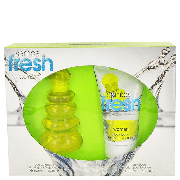 Samba Fresh Gift Set -- Gift Set - 3.4 oz Eau De Toilette Spray + 4.4 oz Body Lotion for Women