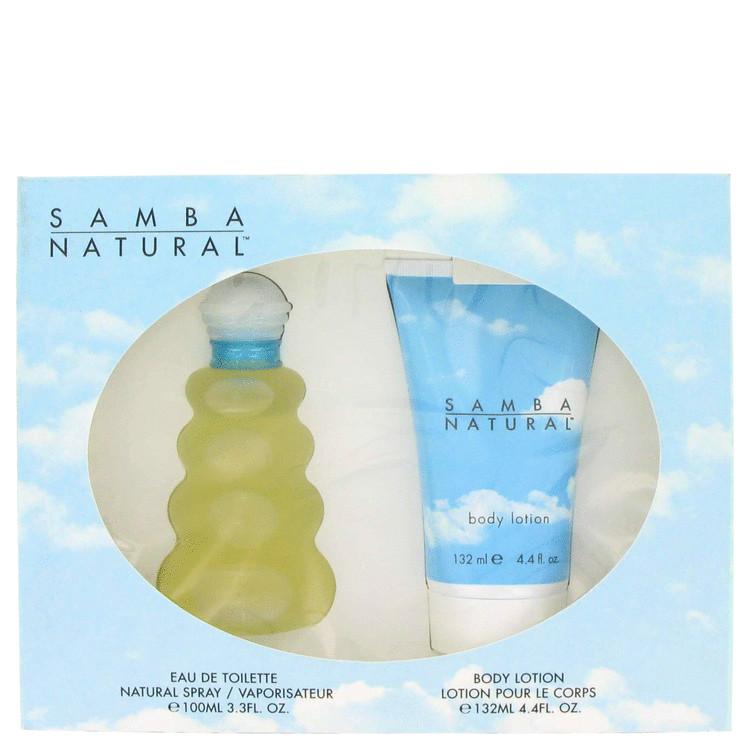 Samba Natural Gift Set -- Gift Set - 3.4 oz Eau De Toilette Spray + 4.4 Body Lotion for Women