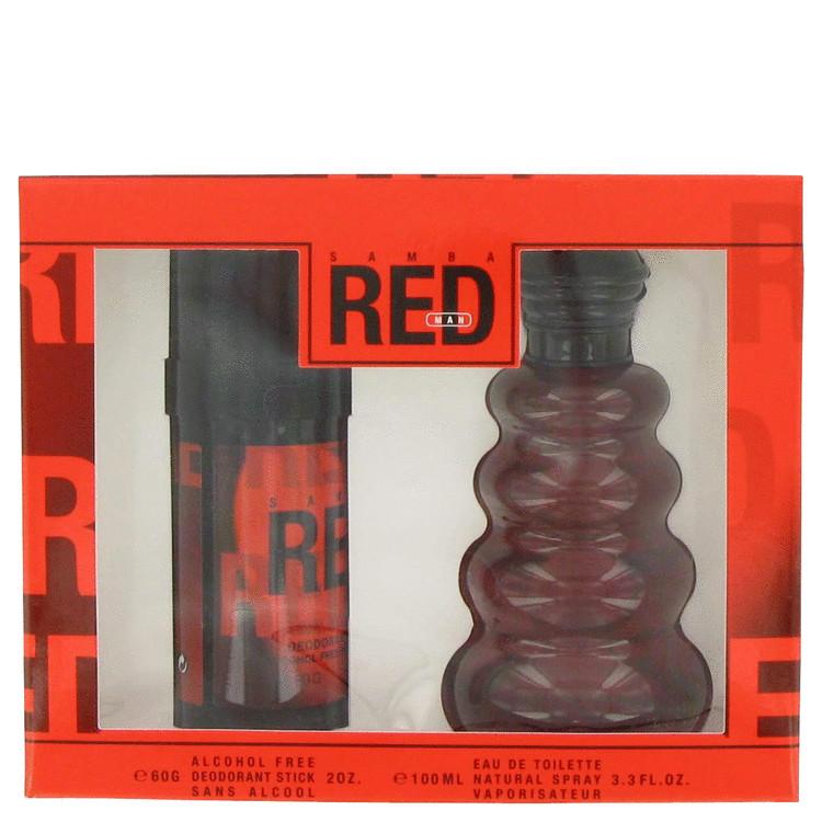 Samba Red Gift Set -- Gift Set - 3.4 oz Eau De Toilette Spray + 2.0 oz Deodorant Stick for Men