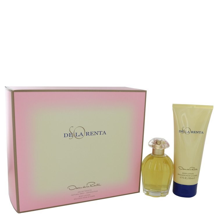 So De La Renta Gift Set -- Gift Set - 3.4 oz Eau De Toilette spray + 6.7 oz Body Lotion for Women