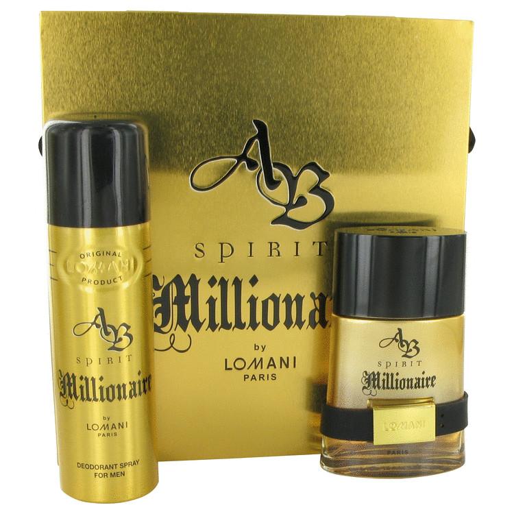 Spirit Millionaire Gift Set -- Gift Set - 3.3 oz Eau De Toilette Spray + 6.6 oz Deodorant Spray for Men