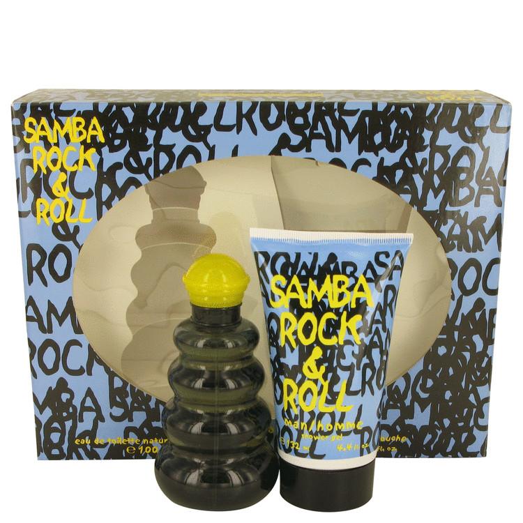 Samba Rock & Roll Gift Set -- Gift Set - 3.4 oz Eau De Toilette Spray + 4.4 Shower Gel for Men