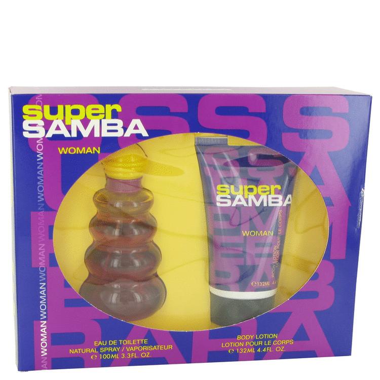 Samba Super Gift Set -- Gift Set - 3.4 oz Eau De Toilette Spray + 4.4 oz Body Lotion for Women