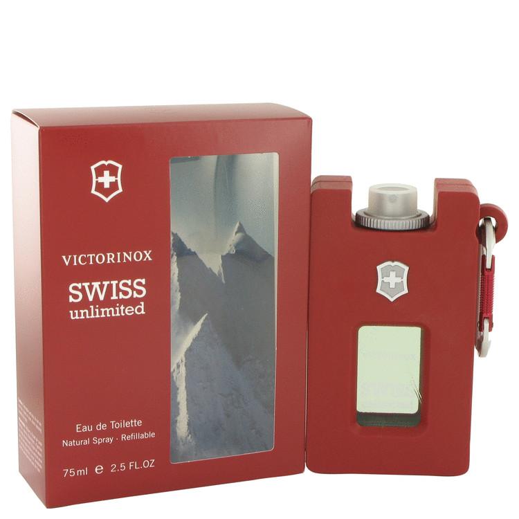 Swiss Unlimited by Victorinox for Men Eau De Toilette Spray Refillable 2.5 oz