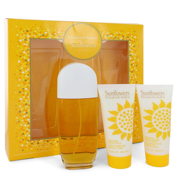 Sunflowers Gift Set -- Gift Set - 3.3 oz Eau De Toilette Spray + 3.3 Body Lotion + 3.3 oz Body Cream for Women