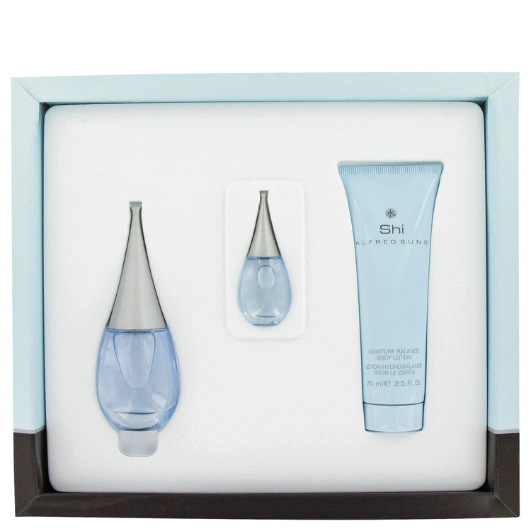 Shi Gift Set -- Gift Set - 1 oz Eau De Parfum Spray +2.5 oz Body Lotion + Mini for Women