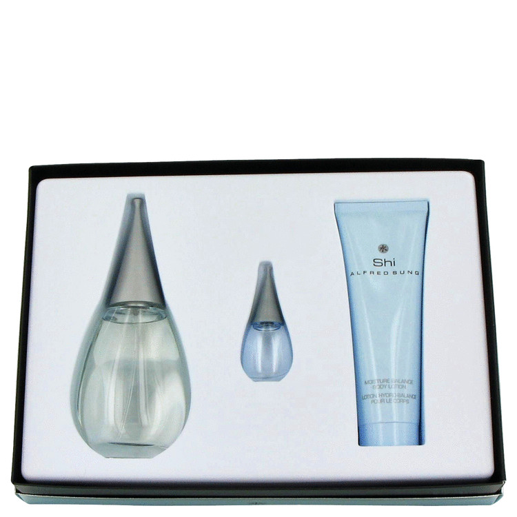 Shi Gift Set -- Gift Set - 3.4 oz Eau De Parfum Spray + 2.6 oz Shower Gel + .24 oz Mini EDP for Women
