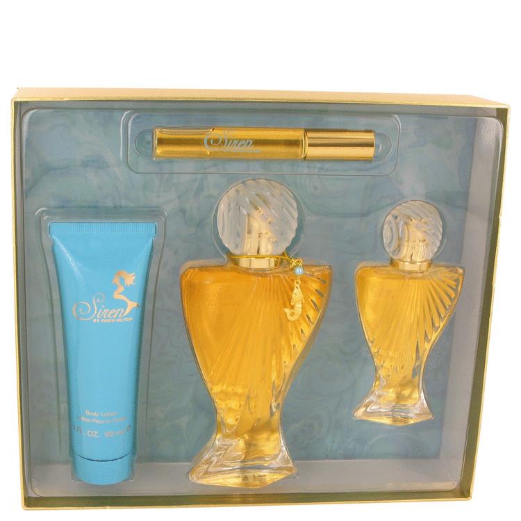 Siren Gift Set -- Gift Set - 3.4 oz Eau De Parfum Spray + 1 oz Eau De Parfum Spray + 3 oz Body Lotion + .34 oz Roll-On EDP for Women