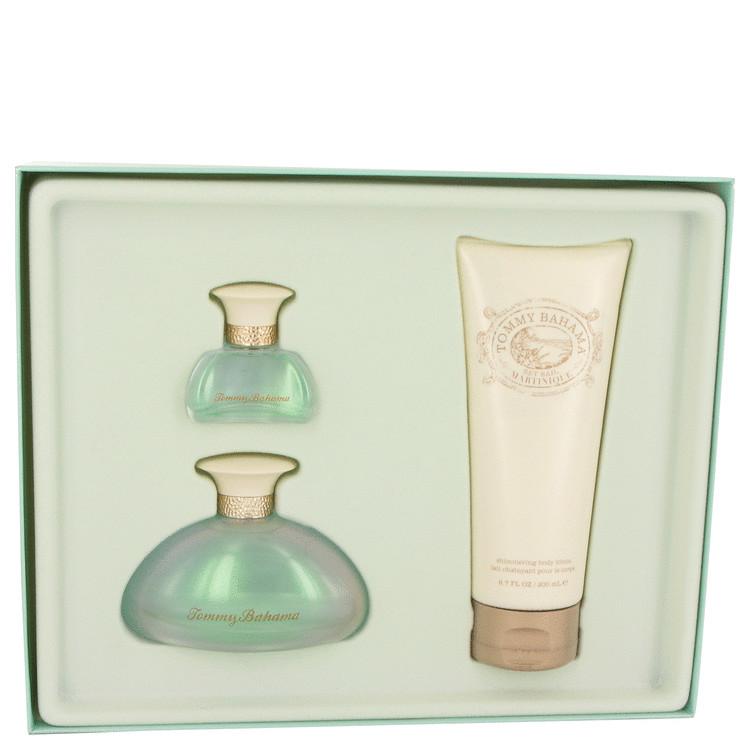 Tommy Bahama Set Sail Martinique Gift Set -- Gift Set - 3.4 oz Eau De Parfum Spray + 6.7 oz Body Lotion + .5 oz Mini EDP Spray for Women