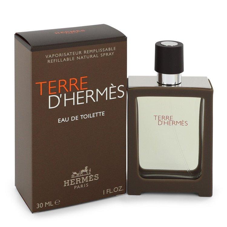 Terre D'hermes Cologne 30 ml Eau De Toilette Spray Refillable for Men