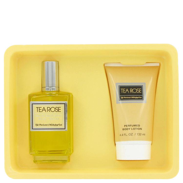 Tea Rose Gift Set -- Gift Set - 4 oz Eau De Toilette Spray + 4.4 oz Body Lotion for Women