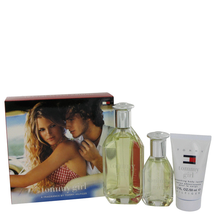 Tommy Girl Gift Set -- Gift Set - 3.4 oz Cologne Spray + 1 oz Cologne Spray + 1.7 oz Body Lotion for Women