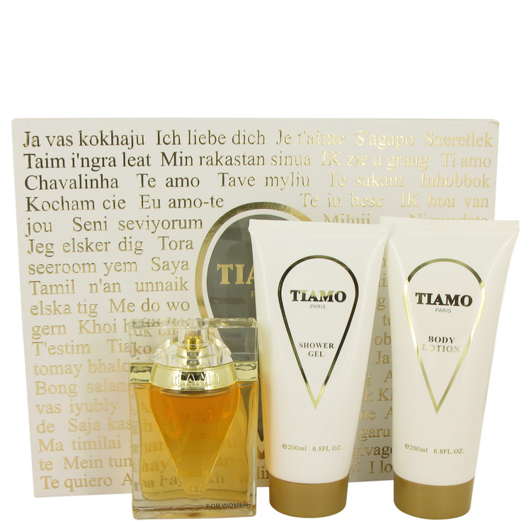 Tiamo by Parfum Blaze for Women Gift Set -- 3.4 oz Eau De Parfum Spray + 6.8 oz Body Lotion + 6.8 oz Shower Gel