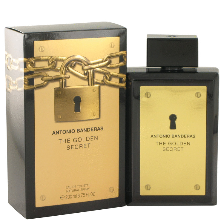 The Golden Secret Cologne by Antonio Banderas 200 ml EDT Spay for Men