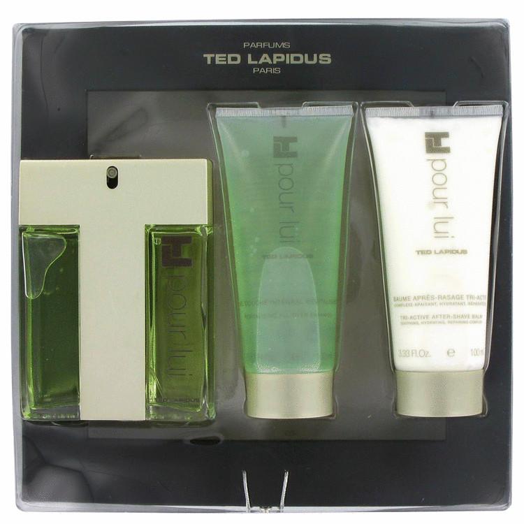 Tl Pour Lui Gift Set -- Gift Set - 3.3 oz Eau De Toilette Spray + 3.3 oz Shower Gel + 3.3 oz After Shave Balm for Men