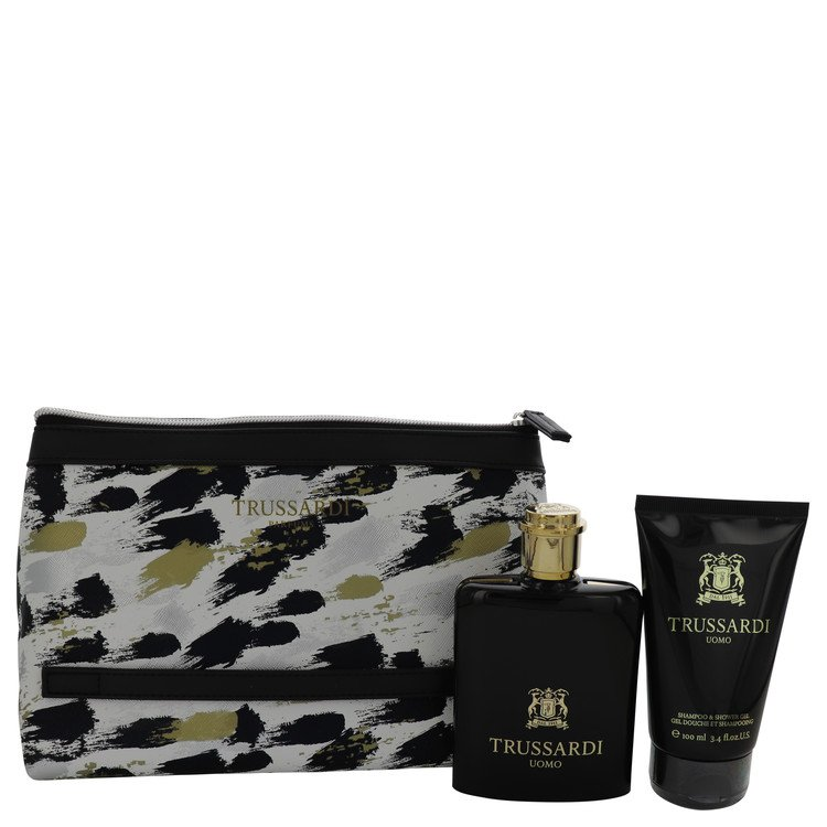 Trussardi for Men, Gift Set (3.4 oz EDT Spray + 3.4 oz Shower Gel + Trusssardi Pouch)