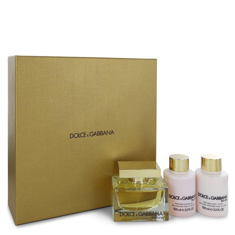 The One by Dolce & Gabbana for Women Gift Set -- 2.5 oz Eau De Parfum Spray + 3.4 oz Body Lotion + 3.4 oz Shower Gel