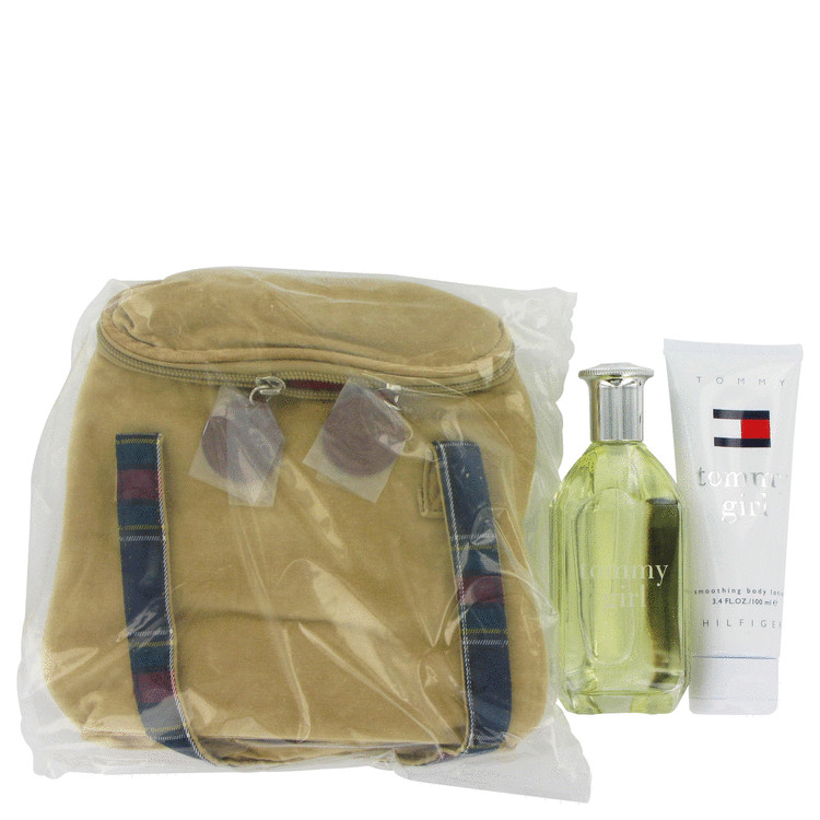 Tommy Girl Gift Set -- Gift Set - 3.4 oz Cologne Spray + 3.4 oz Body Lotion In Toiletry Bag for Women