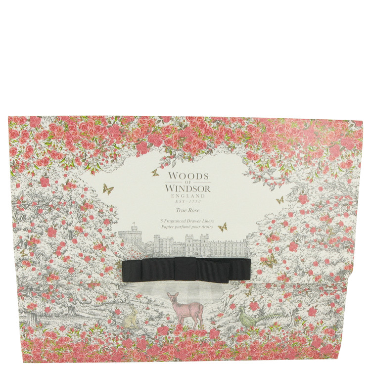 True Rose by Woods of Windsor for Women 5 Perfumed Drawer Liners --