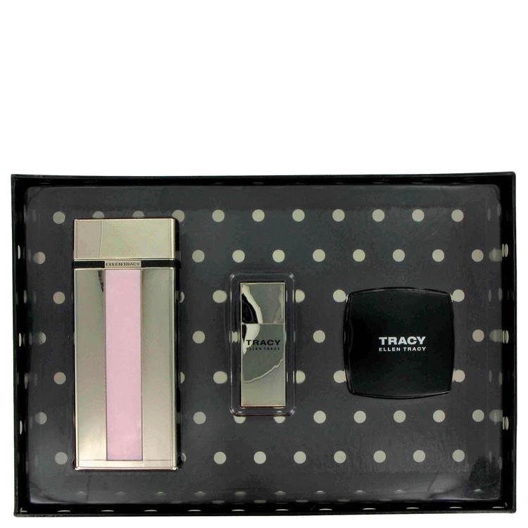 Tracy Gift Set -- Gift Set - 2.5 oz Eau De Parfum Spray + 1 oz Body Cream + .06 oz Mini Purse EDP Spray for Women