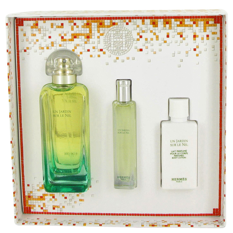 Un Jardin Sur Le Nil Gift Set -- Gift Set - 3.4 oz Eau De Toilette Spray + 0.5 oz Eau De Toilette Spray + 1.35 oz Body Lotion for Women