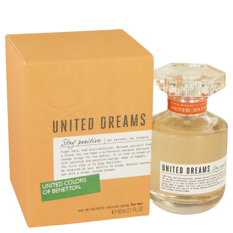 United Dreams Stay Positive Perfume 80 ml EDT Spay for Women