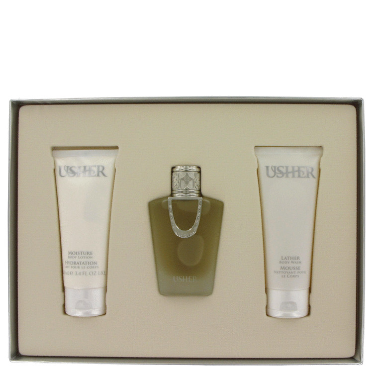 Usher For Women Gift Set -- Gift Set - 1.7 oz Eau De Parfum Spray + 3.4 oz Body Lotion + 3.4 oz Shower Gel for Women