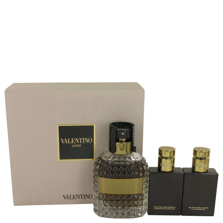 Valentino Uomo Gift Set -- Gift Set - 3.4 oz Eau De Toilette Spray + 1.7 oz Shower Gel + 1.7 oz After Shave Balm for Men