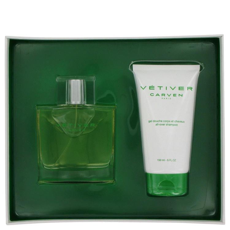 Vetiver Carven Gift Set -- Gift Set - 3 oz Eau De Toilette Spray + 5 oz All-over Shampoo for Men
