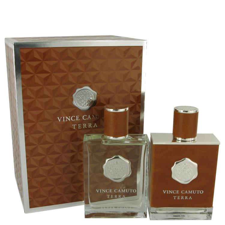 Vince Camuto Terra by Vince Camuto for Men Gift Set -- 3.4 oz Eau De Toilette Spray + 3.4 oz After Shave