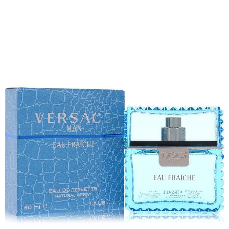 Versace Man Cologne 50 ml Eau Fraiche Eau De Toilette Spray (Blue) for Men