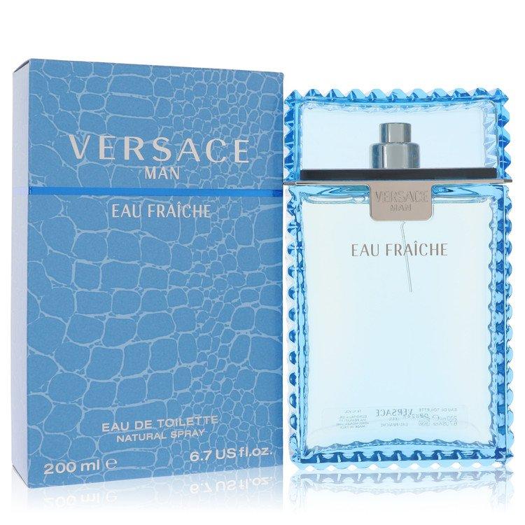 Versace Man Cologne 200 ml Eau Fraiche Eau De Toilette Spray (Blue) for Men