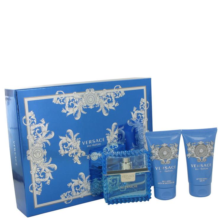 Versace Man Gift Set -- Gift Set - 1.7 oz Eau De Toilette Spray (Eau Fraiche) + 1.7 oz Shower Gel + 1.7 oz After Shave Balm for Men